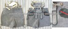 Vintage Children's German Lederhosen. Gray Suede Leather Shorts