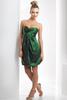 HC2116 Very cheap bright green strapless sleeveless zipper back above knee length short zipper back bubble hem cocktail dresses