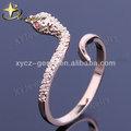 hot atacado de ouro chapeado anéis de bronze jóias cobra xyr100168