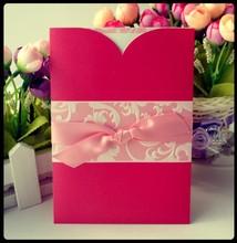 Free sample wedding card & customized invitation card & models of chinese unique wedding invitation card