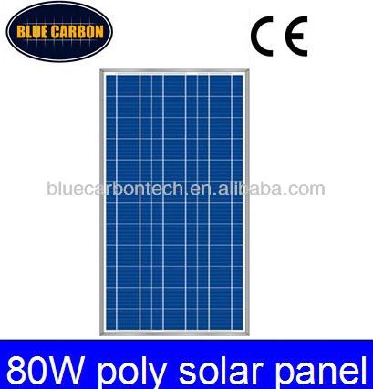 Sun power low price per watt solar panels 80w