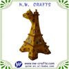Resin custom white giraffe sculpture home decor ornament