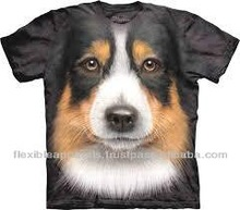 Printed Animal T-Shirt 100% Cotton Single Jersey Fabric