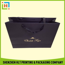 Top quality hot-sale luxury matte white paper shopping bag