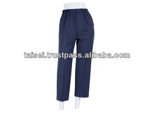 Elastic waist stretch pants with comfortable clothes design