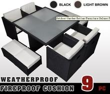 Black Outdoor Rattan Garden Patio Weave Furniture Sofa Set Conservatory Wicker