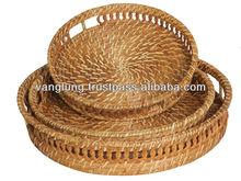 New design round rattan fruit basket/ Wicker basket/ Gift