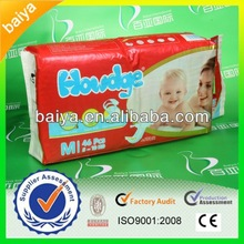 OEM High Quality Super Absorbent Breathable Disposable Happy Baby Nappy