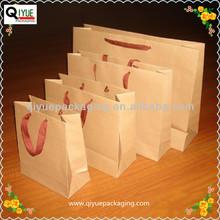 block bottom brown kraft paper bags