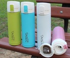 stainless steel logo printing thermos 360,420,500 ml double wall vacuum and sport hot and cold water bottle