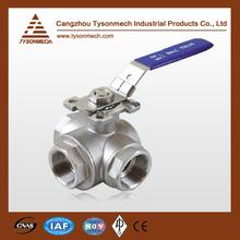 Tysonmech Hot Sale 3 way stainless steel ball valve