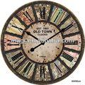 londres antiguo estilo colorido reloj de pared de imágenes