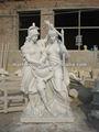 pfm mão esculpida estátua de mármore branco