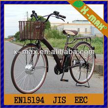 250W li-ion high performance electric two seat bicycle/bike