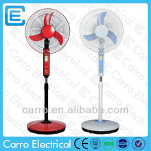 "portable electric 16"" DC 12V battery fan with led light/battery standing fan"
