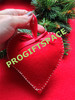 2014 hot sell Eco friendly Christmas Wool Felt valentine red heart Decorations in bulk made in China