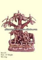 antique brass hindu idol Krishna statue