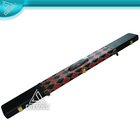 High Quality Black And Red Leather 3/4 Snooker Billiard Cue Case