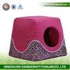 2014 QingQuan plush / sponge dog house pet house (factory direct selling)