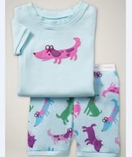 2015 Summer boys animal pajamas,Kids Short sleeve Sleepwear,Children Home wear clothing
