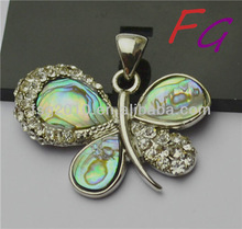 Pd-SL-0108 exaggerated Natural Abalone Shell Pendant,filigree pendant butterfly