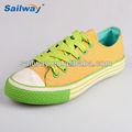 safra de verão de maçã verde sapatos de lona para senhoras