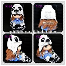 2014 panda main crochet bébé chapeaux tricoter motif