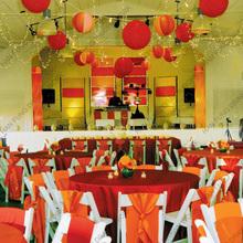 fashionable round indoor paper lanterns for wedding