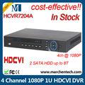 Nova geração analógica HD DVR HCVR7204A 4 All Channel 1080 P 1U HDCVI DVR