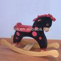 mecedora de madera caballo de juguete divertido bebé de peluche de juguete