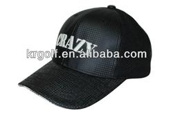 Crazy Bassball /Golf Cap Adjustable Black Outdoor Sports Hat
