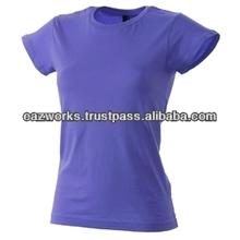 O Neck Plain Ladies T Shirt 100% Cotton For Women Ladies Girls Pakistan