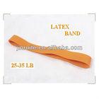 logo printing yoga band hot sell/resistance latex band/latex band roll