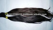Long silky shiny double drawn machine weft hair
