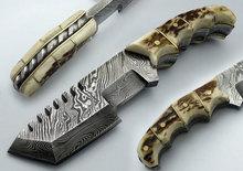 Custom Damascus Full Tang Tracker Hunting Knife