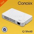 2014 nova chegada concox q shot0 portátil projetor de dvd
