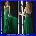 Ed-2548 askısız takılan korse akan zümrüt yeşil şifon elbise zümrüt yeşili akşam önlük tasarımları