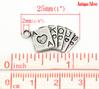 "50PCs Antique Silver Poker Cards Charm Pendants 25x13mm(1""x1/2""),Jewelry"