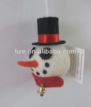 snowman head christmas tree ornaments