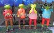 Painted Iron Animal Figures - Frog