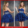 OD-406 Strapless sweetheart neckline ball gowns and cocktail dresses layered chiffon cocktail dresses short royal blue