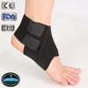 black neoprene elastic comfortable sports plastic ankle brace