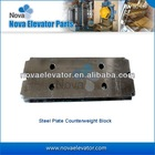 32 ~ 52KG Loading Weight Elevator Counterweight| Steel Plate Counterweight for Elevators and Lifts