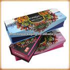 Matte paper packaging box for hair weave products and hair weave packaging boxes with customer own logo