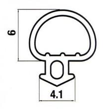 Black UPVC window and door bubble gasket, seal, rubber, Various Lengths