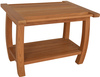 Grade A teak wooden comfortable shower bench safety for the elderly FSC approved