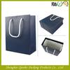 Navy blue paper bag for packaging apparel