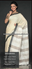 2014 New lates indian women in silk saree without blouse