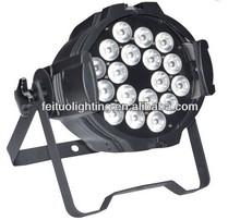 18 X10W RGBW 4in1 DMX LED projecteur Par Light