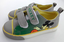 Disney Mickey Mouse design school shoes for boy canvas upper